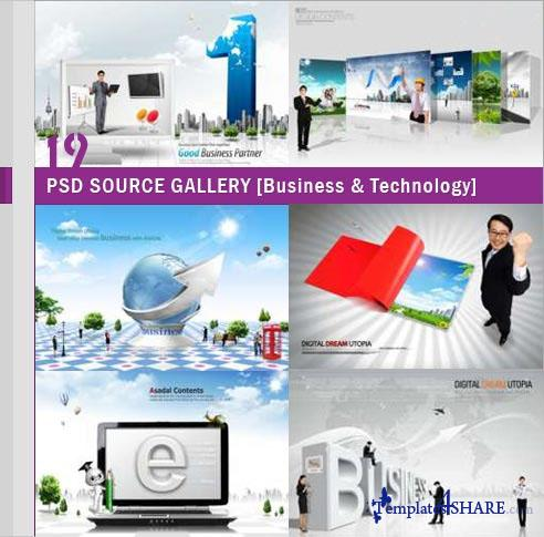 PSD Source Gallery - Business & Technology (Volume 19)