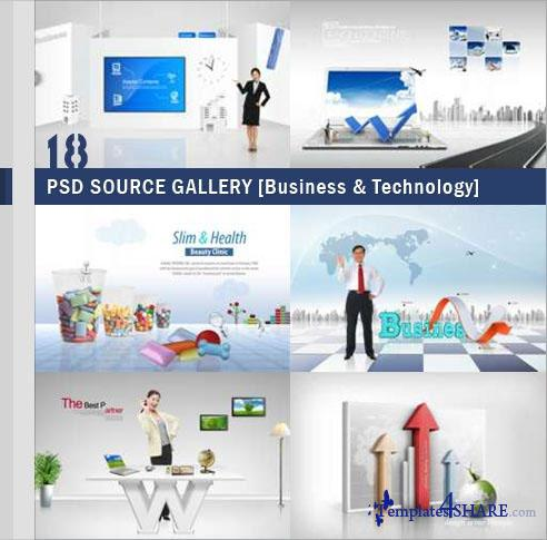 PSD Source Gallery - Business & Technology (Volume 18)