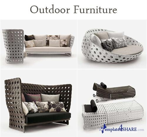 Outdoor furniture 3d models free for Outdoor furniture 3d max