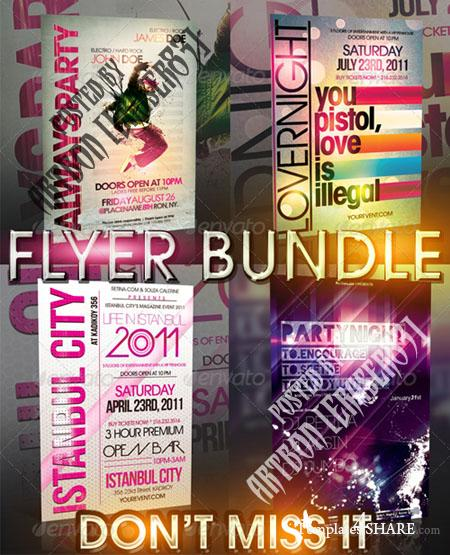GraphicRiver TYPOGRAPHY FLYER BUNDLE - 4IN1
