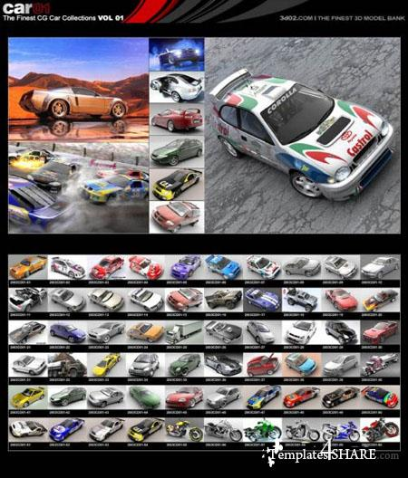 The Finest CG Cars Collections (FULL 60 Cars)