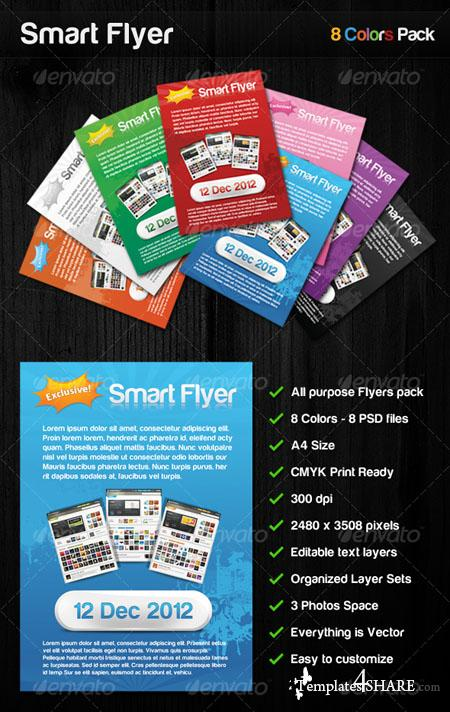 GraphicRiver Smart Flyer 8 Colors all Purpose Flyers Pack