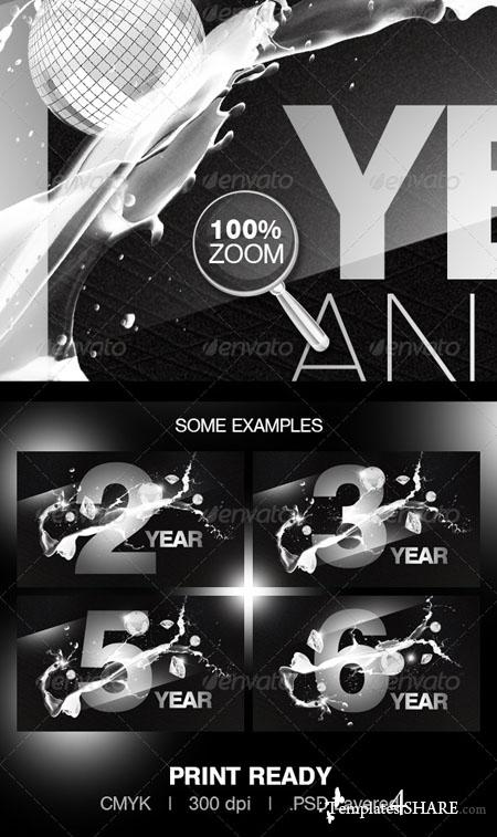 GraphicRiver Anniversary Party Flyer