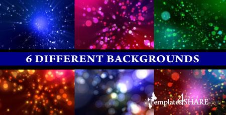 Particle Shine (6-Different Backgrounds Loop) - Footage for After Effects (Videohive)