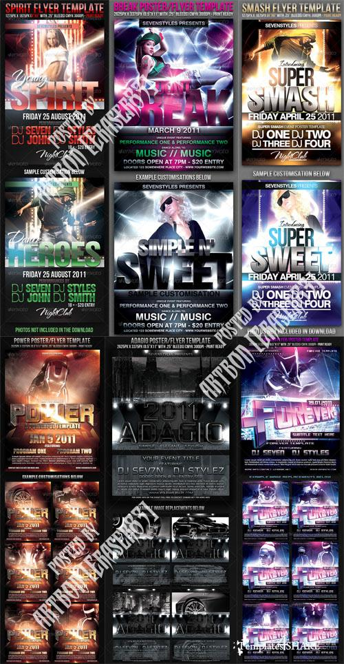 GraphicRiver Flyers Templates Pack 13