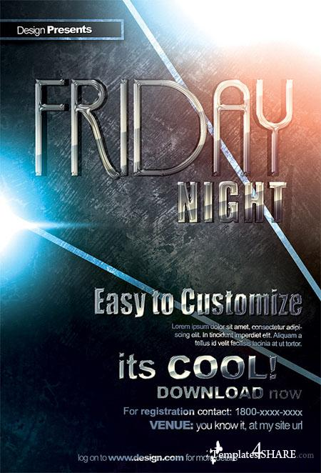 GraphicRiver Friday Night Flyer/Poster Template