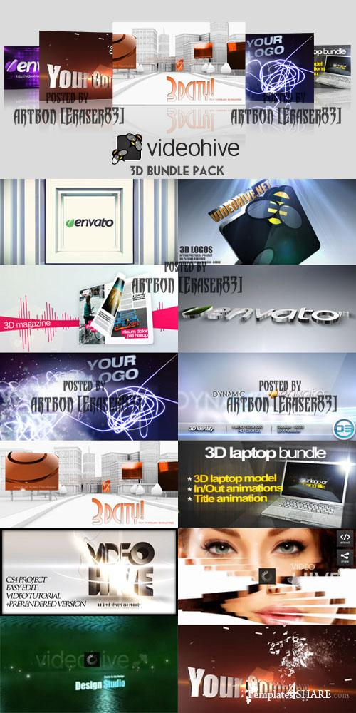 Videohive Projects - 3D Bundle Pack