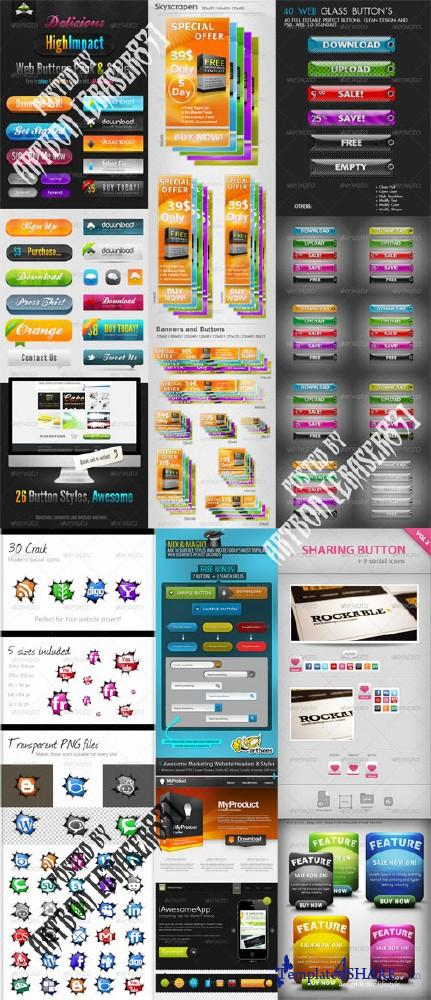 GraphicRiver Professional Web Elements Pack 4