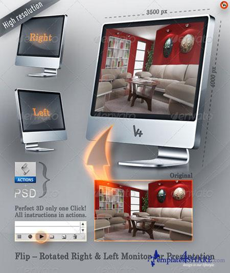 GraphicRiver Flip - Rotated Right & Left Monitor Presentation