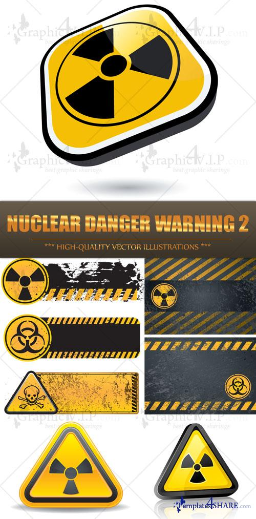 Nuclear Danger Warning 2 - Stock Vectors