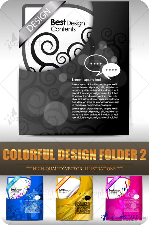 Colorful Design Folder 2 - Stock Vectors