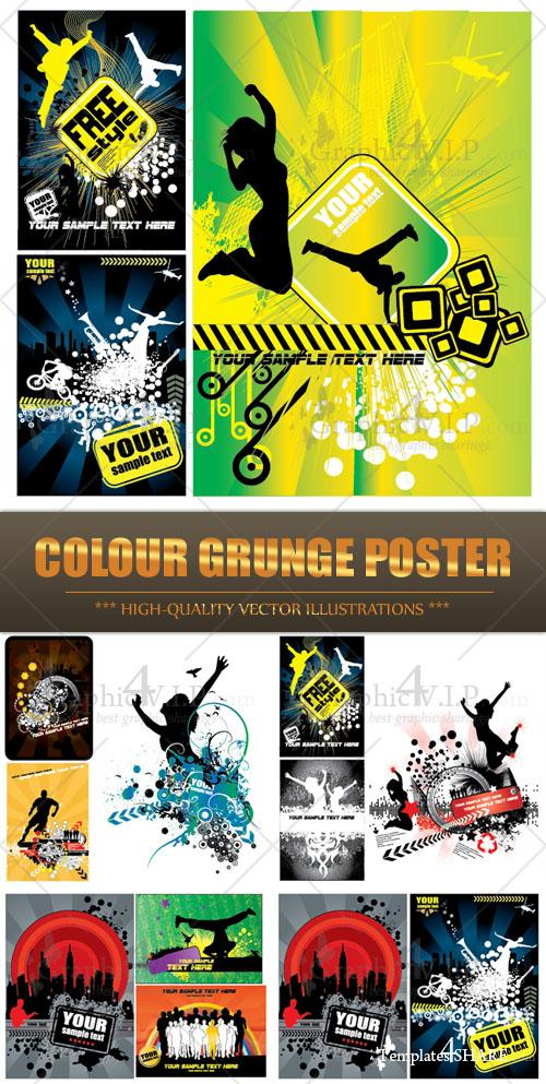 Colour Grunge Poster - Stock Vectors