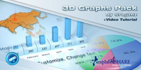 3D Graphs Pack - Project for After Effects (Videohive)