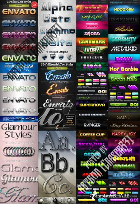 GraphicRiver Photoshop Styles Collection 2