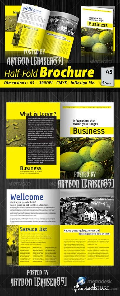 GraphicRiver A5 Half-fold corporate brochure (4 pages)