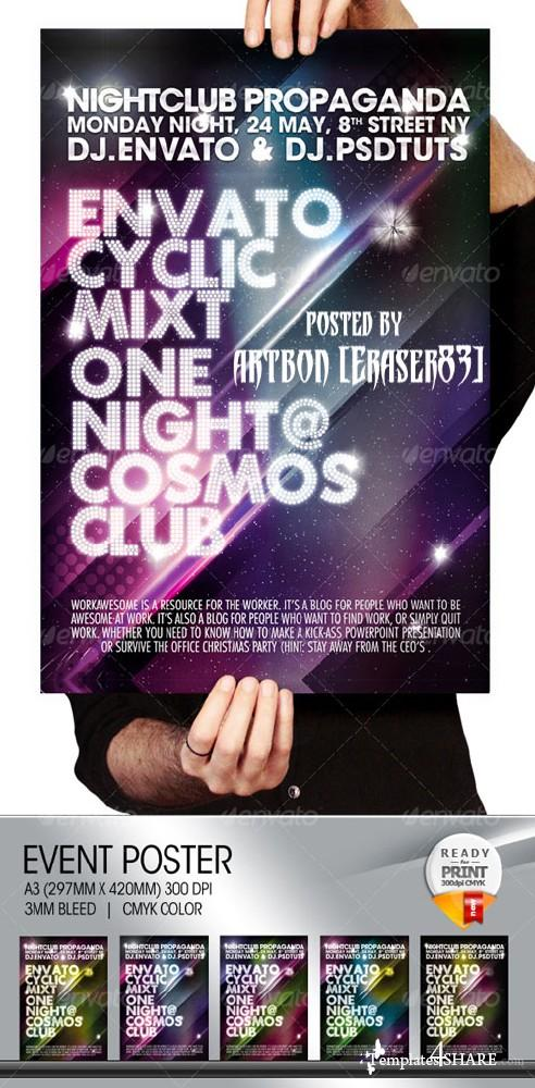 GraphicRiver Cosmos Summer Party / Nightclub Poster & Flayer