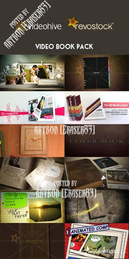 Video Book Pack - Videohive and RevoStock Projects