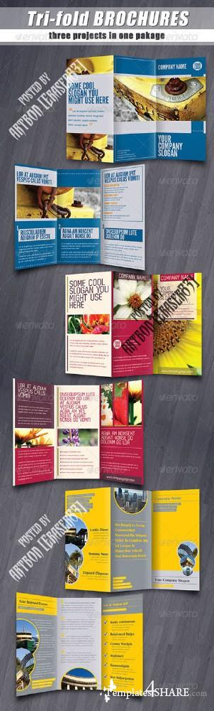 GraphicRiver Tri-fold brochures PACK