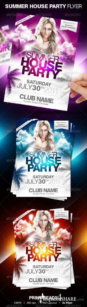 GraphicRiver Summer House Party Flyer
