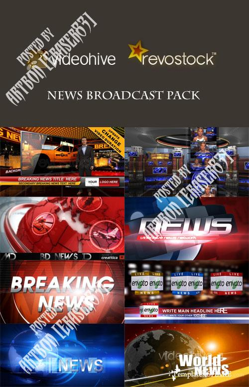 News Broadcast Pack - Videohive and RevoStock Projects