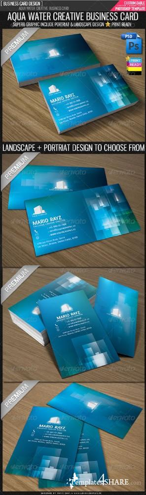 GraphicRiver Aqua Water Corporate Business Card