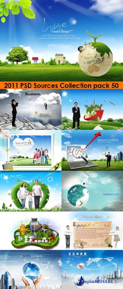 2011 PSD Sources Collection (Pack 50)