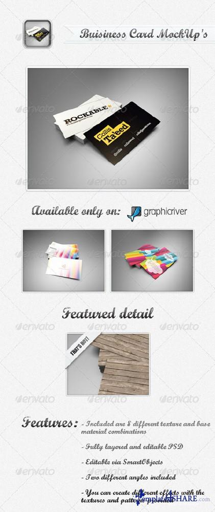 GraphicRiver Business Card MockUp's