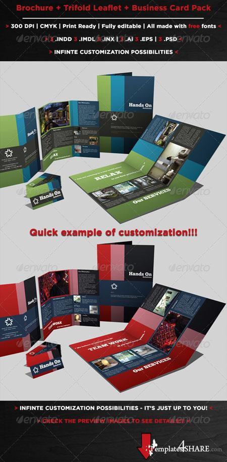 GraphicRiver Brochures Pack Set A4 + Trifold + Business Card