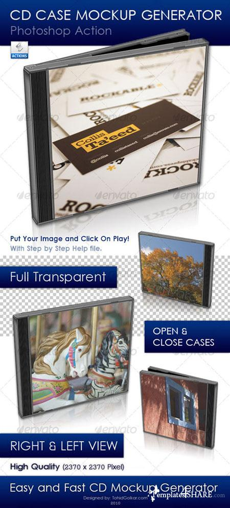 GraphicRiver CD Case Mockup Generator