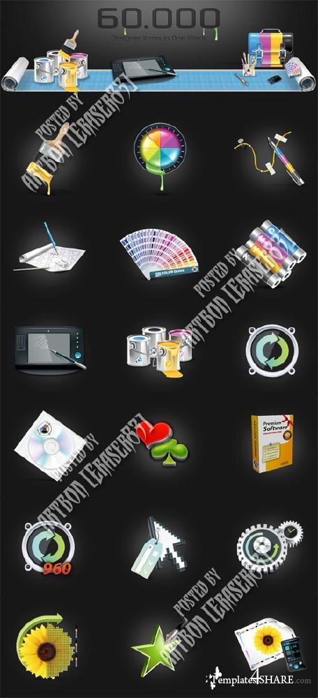 Ultimate Designer Toolkit -  60.000 Items for Web Development and Printig