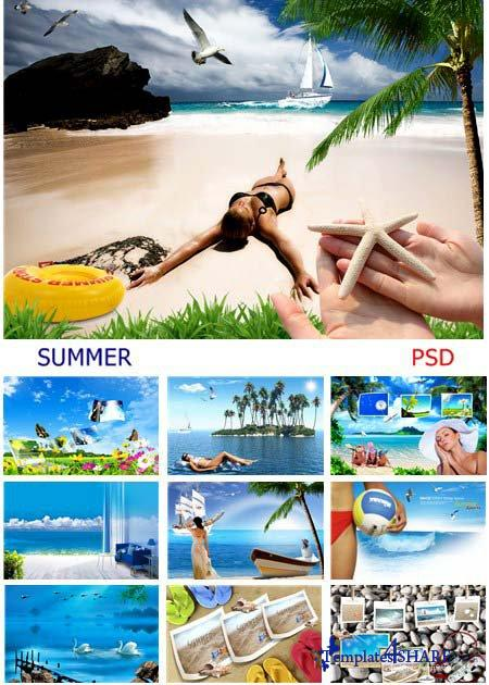 SUMMER PSD Sources - HUGE COLLECTION