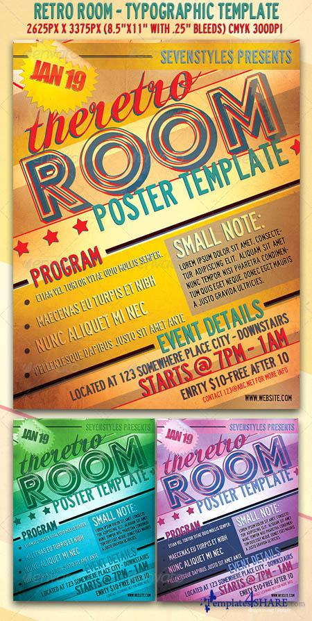GraphicRiver RetroRoom Flyer/Poster Template