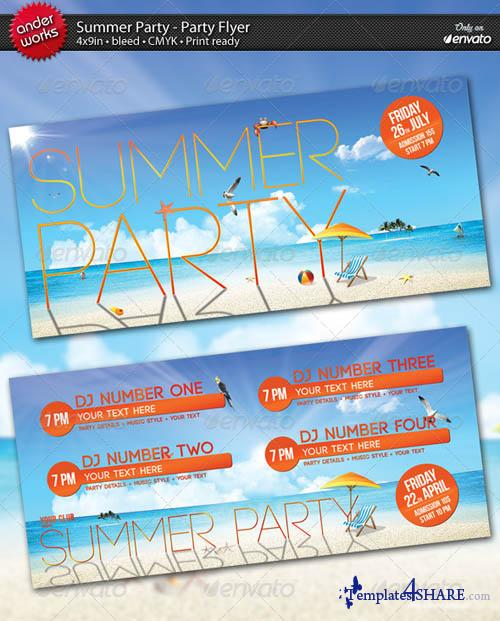 GraphicRiver Summer Party - Flyer