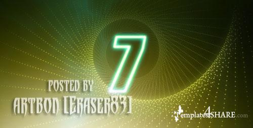 Countdown Glow Number - Footage for After Effects (Videohive)