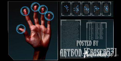 HD Fingerprint Scan Identification Interface - Footage for After Effects (Videohive)