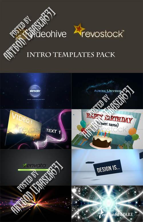 Intro Templates Pack - Videohive and Revostock Projects
