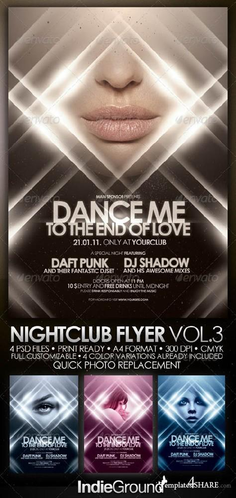 GraphicRiver Nightclub Flyer/Poster Vol. 3