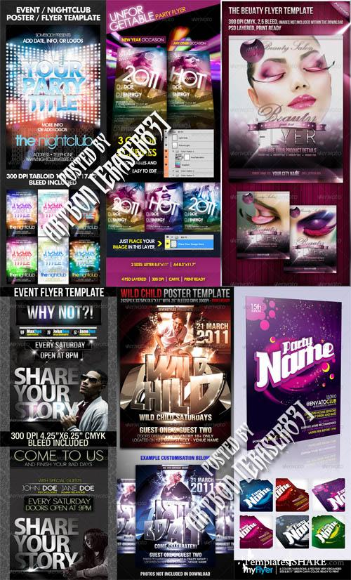 GraphicRiver Flyers Templates Pack 16