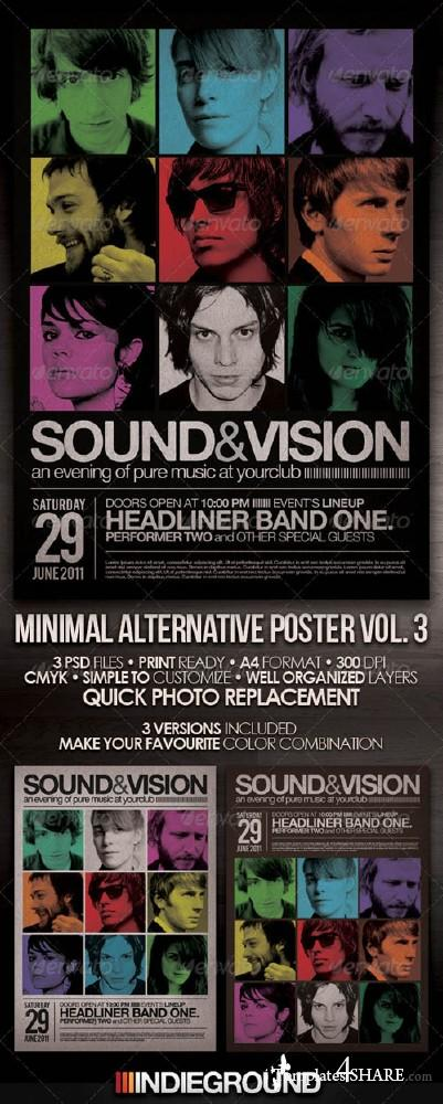 GraphicRiver Minimal Alternative Flyer/Poster Vol. 3