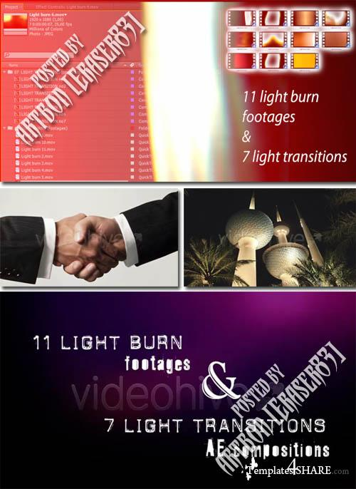 Light Transitions & Burns - Project for After Effects (Videohive)