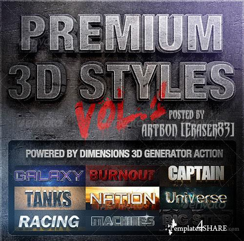 GraphicRiver Dimensions - Premium 3D Styles Vol.1