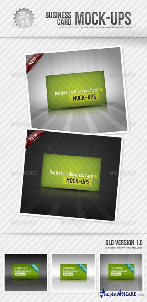 GraphicRiver Reflection Business Card Mockup