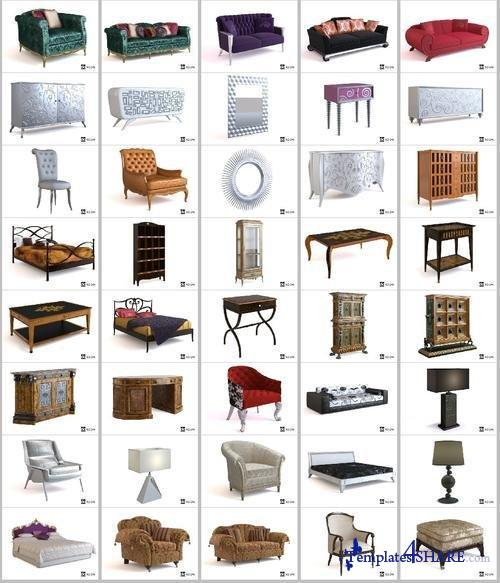 Doroom Home Furniture Collection - 3D Models