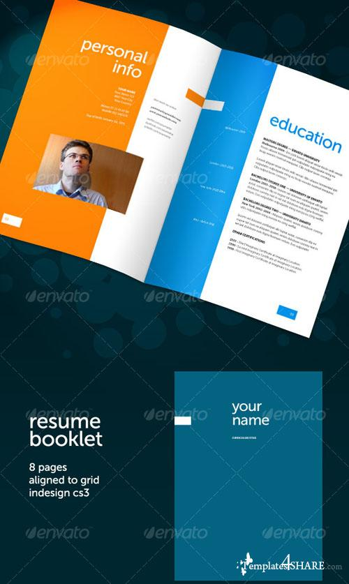graphicriver resume booklet 8 pages 187 templates4share