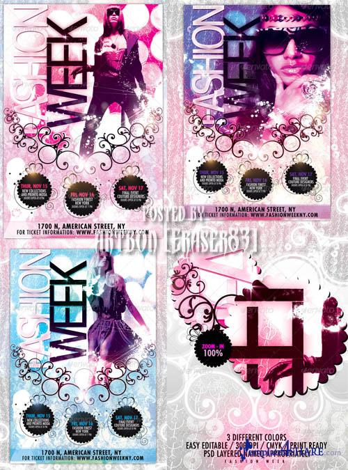 GraphicRiver Fashion Week Flyer