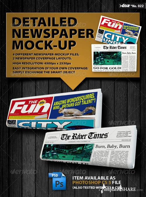 GraphicRiver Newspaper Mock-up