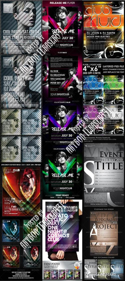 GraphicRiver Flyers Templates Pack 18