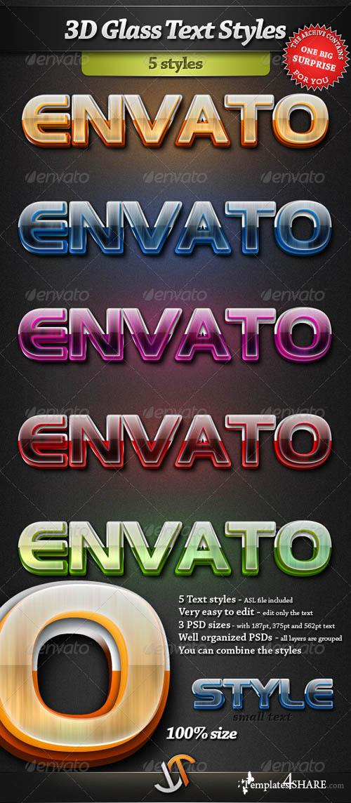 GraphicRiver 3D Glass Text Styles