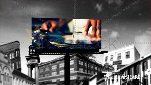 City Billboard - Project for After Effects (Revostock)