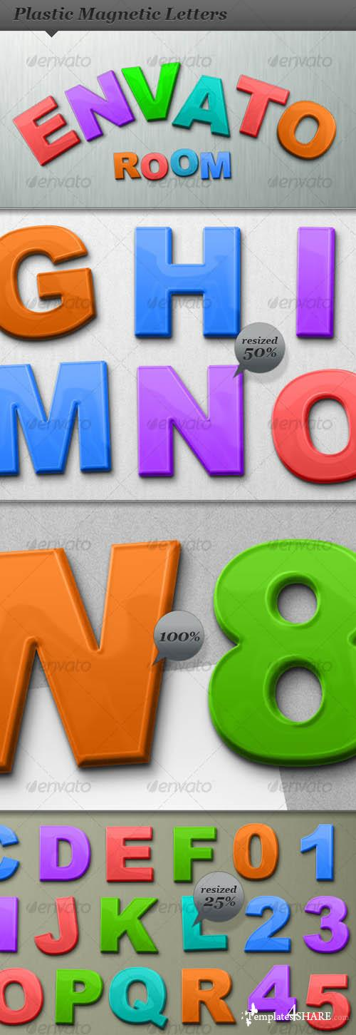 GraphicRiver Plastic Magnetic ABC Letters and Numbers